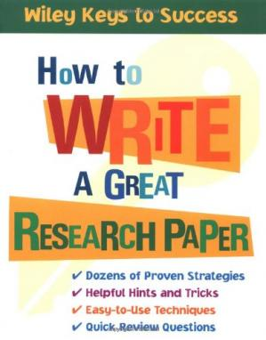 Εξώφυλλο βιβλίου How to Write a Great Research Paper