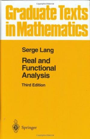 Book cover Real and Functional Analysis