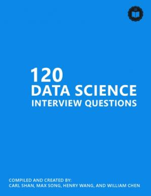 Book cover 120 real data science interview questions