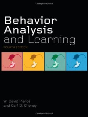 A capa do livro Behavior Analysis and Learning: Fourth Edition