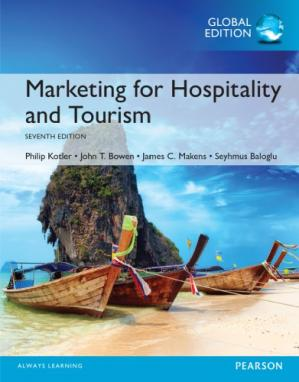 Book cover Marketing for hospitality and tourism