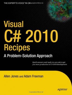 A capa do livro Visual C# 2010 Recipes: A Problem-Solution Approach