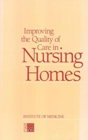 Sampul buku Improving the quality of care in nursing homes