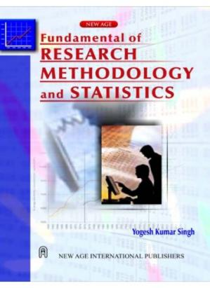 Book cover Fundamental of Research Methodology and Statistics