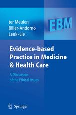 Okładka książki Evidence-based Practice in Medicine and Health Care: A Discussion of the Ethical Issues