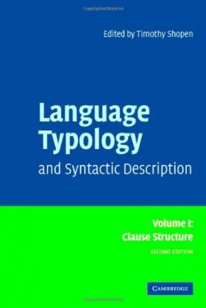 Book cover Language Typology and Syntactic Description: Volume 1, Clause Structure