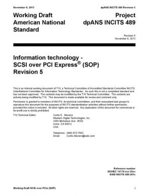 Book cover SCSI Over PCIe (SOP r05)