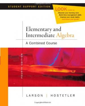 Copertina Elementary and Intermediate Algebra, 4th Student Support Edition