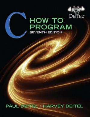 Book cover C: How to Program, 7th Edition