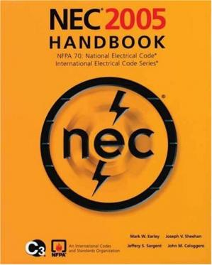 غلاف الكتاب NEC 2005 Handbook: NFPA 70: National Electric Code; International Electrical Code Series