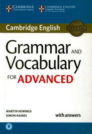 Portada del libro Grammar and Vocabulary for Advanced