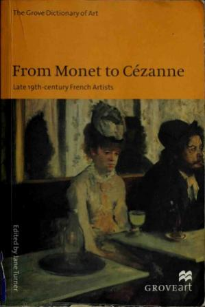 Book cover From Monet to Cézanne: Late 19th-century French Artists
