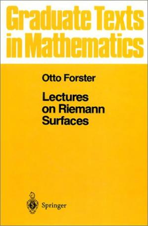 Book cover Lectures on Riemann surfaces