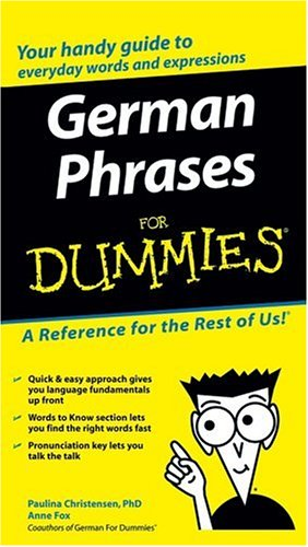 Book cover German Phrases For Dummies