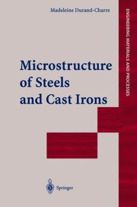 A capa do livro Microstructure of Steels and Cast Irons (Engineering Materials and Processes)
