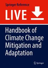 A capa do livro Handbook of Climate Change Mitigation and Adaptation