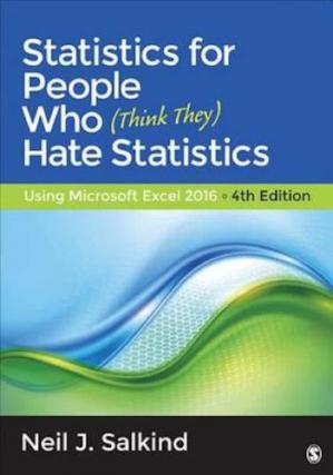 Book cover Statistics for people who (think they) hate statistics: Using Microsoft Excel 2016
