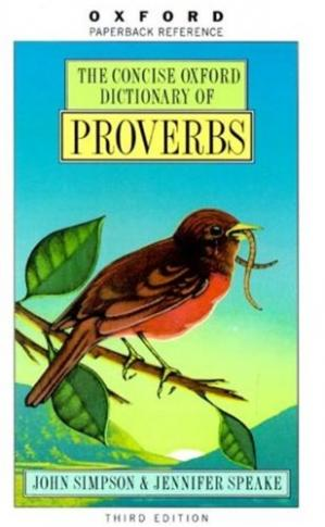 Book cover The Concise Oxford Dictionary of Proverbs