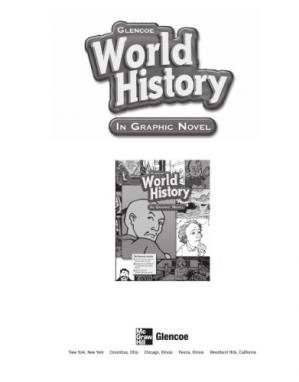 Book cover World History: In Graphic Novel