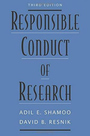 Couverture du livre Responsible Conduct of Research