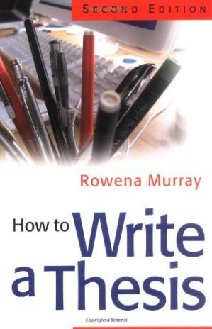 Book cover How to Write a Thesis