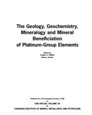 Buchdeckel The Geology, Geochemistry, Mineralogy and Mineral Beneficiation of Platinum-Group Elements