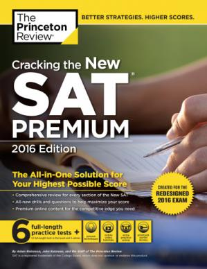 Book cover Cracking the New Sat Premium Edition, 2016: Created for the Redesigned 2016 Exam