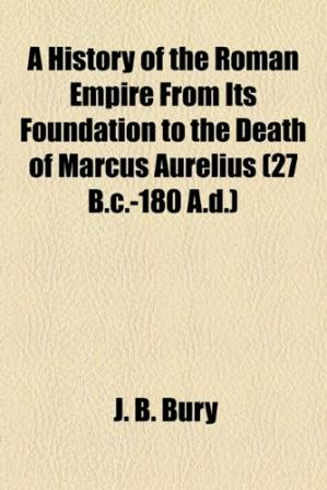 Copertina A History of the Roman Empire from its Foundation to the Death of Marcus Aurelius