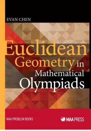 A capa do livro Euclidean Geometry in Mathematical Olympiads
