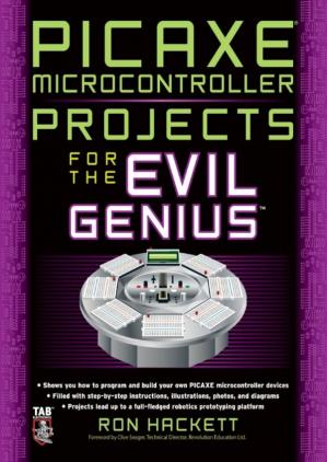 A capa do livro PICAXE Microcontroller Projects for the Evil Genius