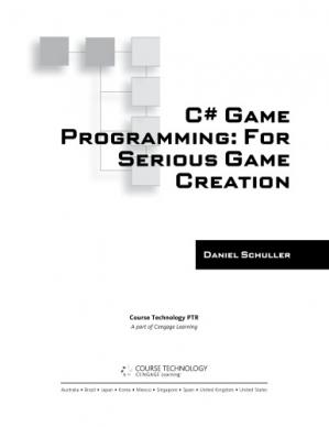Book cover C# game programming : for serious game creation