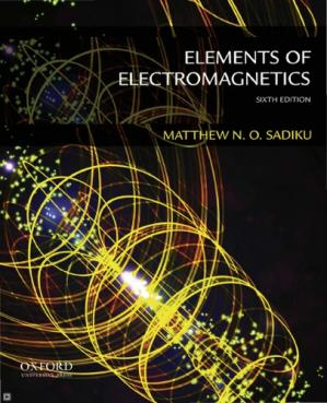 Kulit buku Elements of Electromagnetics