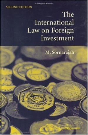La couverture du livre Int law on foreign investment