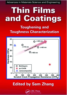 Okładka książki Thin Films and Coatings: Toughening and Toughness Characterization (Advances in Materials Science and Engineering)