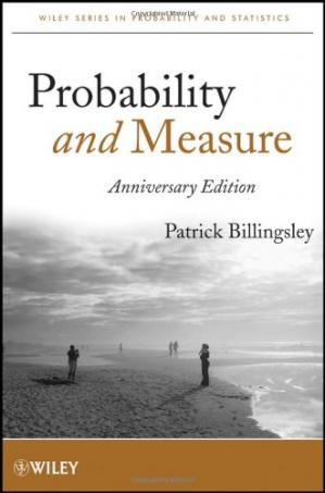 Գրքի կազմ Probability and Measure