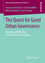 Sampul buku The Quest for Good Urban Governance: Theoretical Reflections and International Practices
