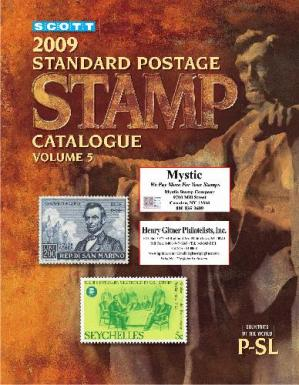 غلاف الكتاب Scott 2009 Standard Postage Stamp Catalogue