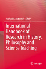 Portada del libro International Handbook of Research in History, Philosophy and Science Teaching