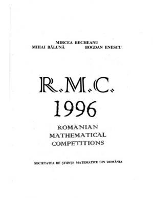 Copertina Romanian mathematical competitions 1996