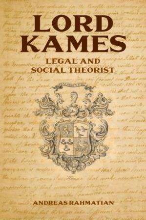 A capa do livro Lord Kames: Legal and Social Theorist