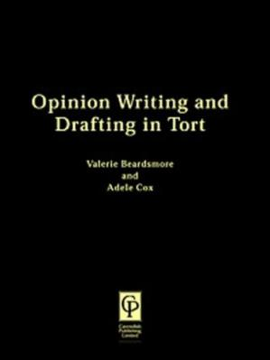 Portada del libro Opinion Writing & Drafting In Tort