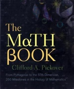 Обложка книги The Math Book: From Pythagoras to the 57th Dimension, 250 Milestones in the History of Mathematics