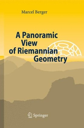 Book cover A panoramic view of Riemannian geometry