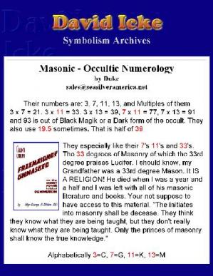 书籍封面 Masonic Occult Numerology