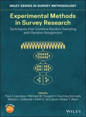 Book cover Experimental Methods in Survey Research