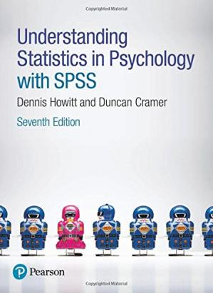 Book cover Understanding statistics in psychology with SPSS