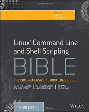 Book cover Linux Command Line and Shell Scripting Bible