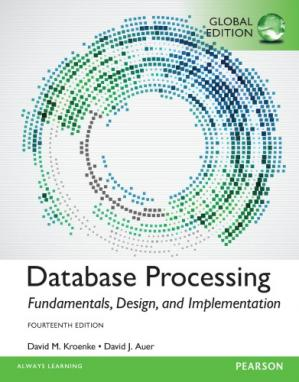 Book cover Database Processing: Fundamentals, Design, and Implementation, Global Edition, 14Ed