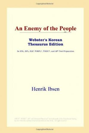 Buchdeckel An Enemy of the People (Webster's Korean Thesaurus Edition)