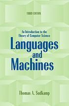 Book cover Languages and machines: an introduction to the theory of computer science